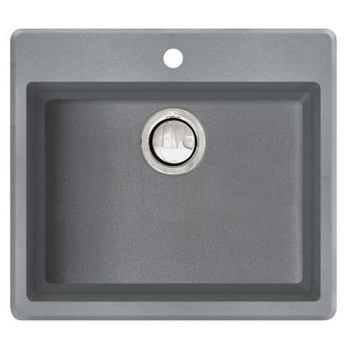 Transolid Quantum Granite 22-in Drop-in Kitchen Sink