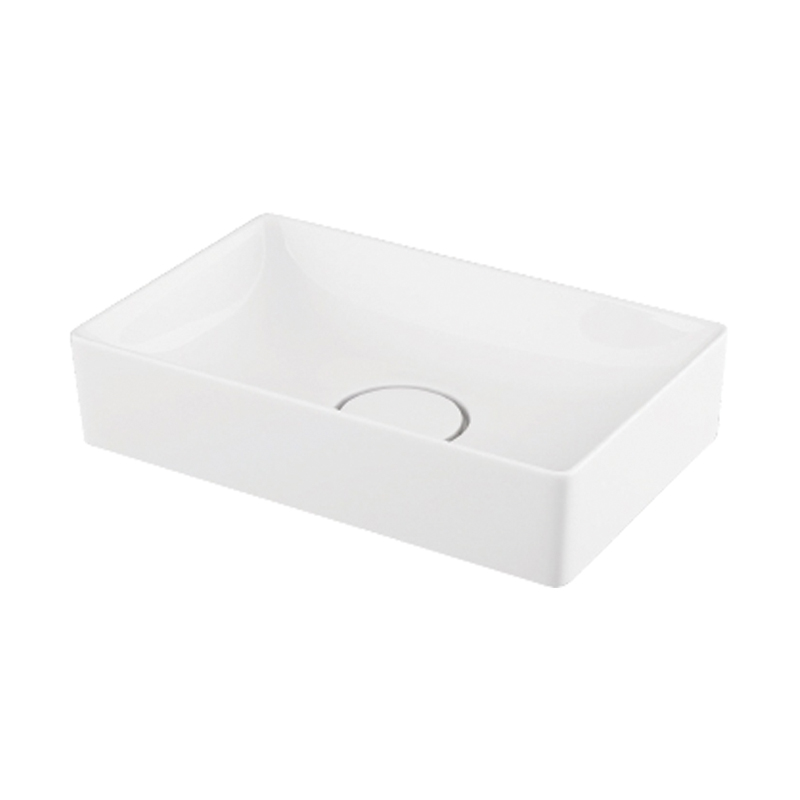 Transolid Quincy Vitreous China 16.5-in Rectangular Vessel Sink