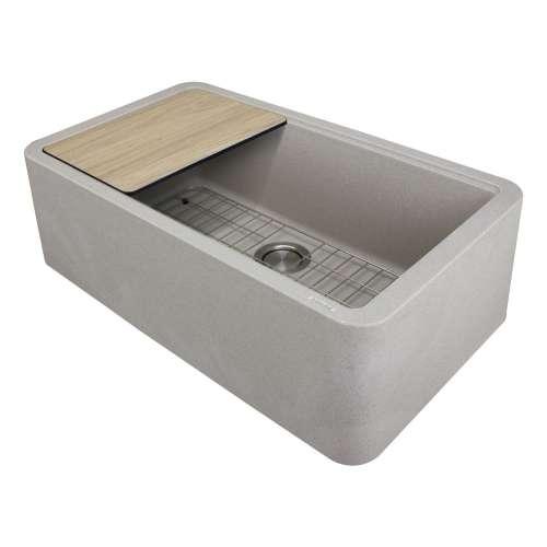 Transolid RUSSF3319-16 SilQgranite Farmhouse Kitchen Sink in Caf