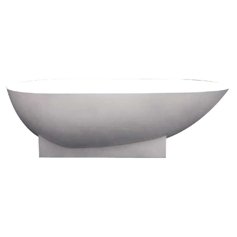 Transolid Shea Resin Stone 72-in Center Drain Freestanding Tub