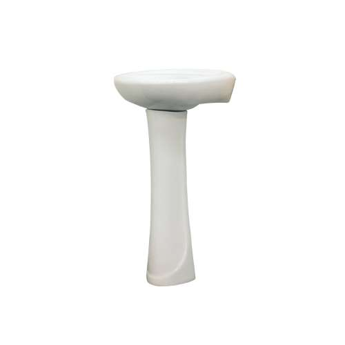Transolid Madison Petite Vitreous China Lavatory Sink with 4-in centers for use with TP-1440 Pedestal Leg, in White