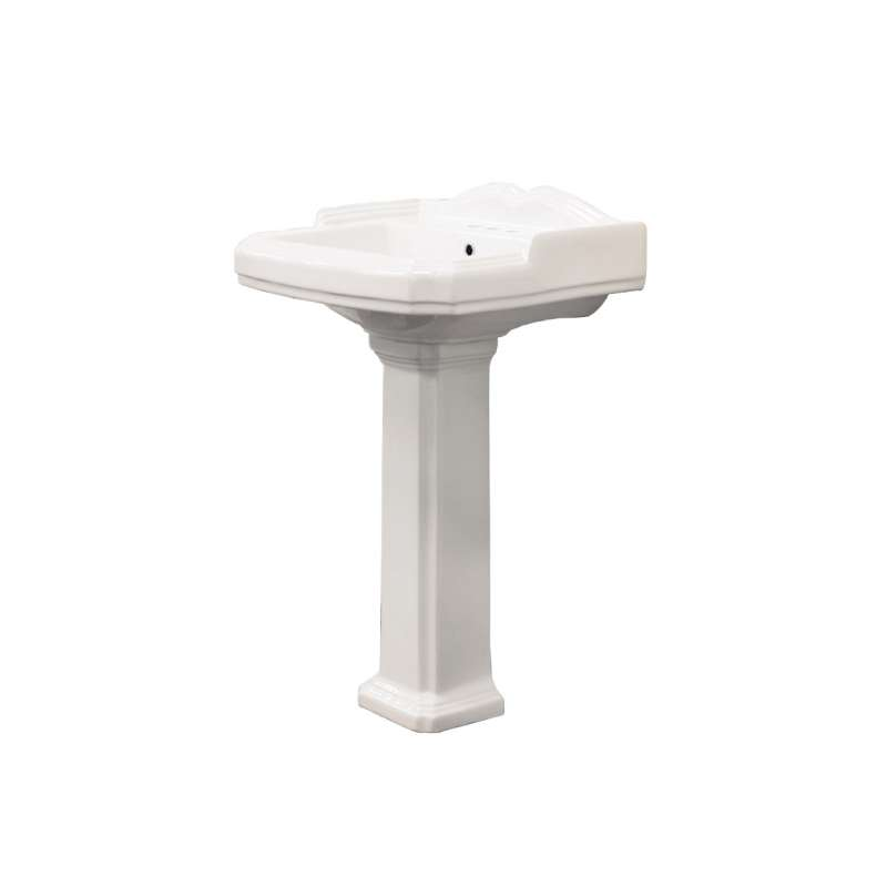 Transolid Harrison Vitreous China Lavatory Sink with 4-in centers for use with TP-1480 Pedestal Leg, in White