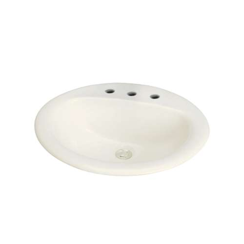 Transolid Akron Vitreous China 20-in Drop-in Lavatory with 8-in CC Faucet Holes