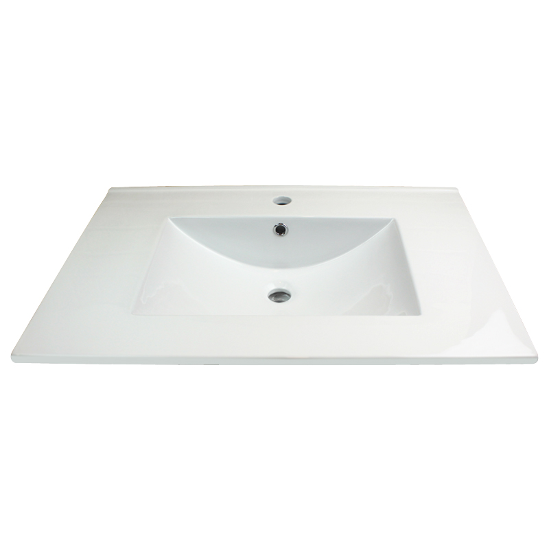 Transolid Aidan 37 In Vitreous China Vanity Top With Integrated Sink