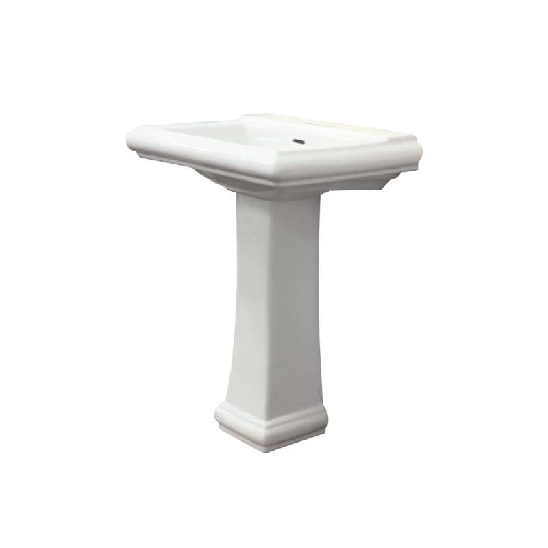 Transolid Avalon Vitreous China 26-in Pedestal Sink
