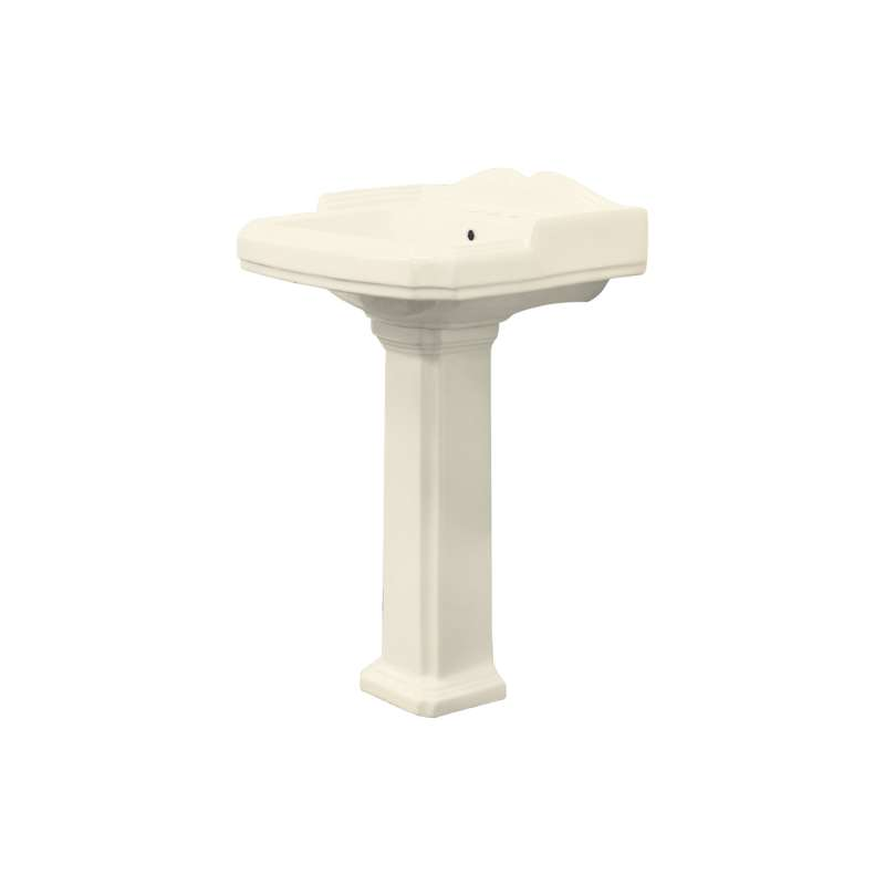 Transolid Harrison Vitreous China 22-in Pedestal Sink with 4-in CC Faucet Holes