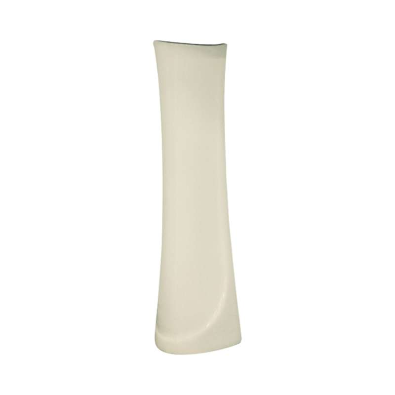 Transolid Madison Petite Vitreous China Pedestal Leg for use with TL-1444 Lavatory Sink, in Biscuit