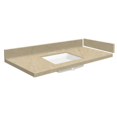 31 in. Solid Surface Vanity Top in Almond Sky with 4in Centerset