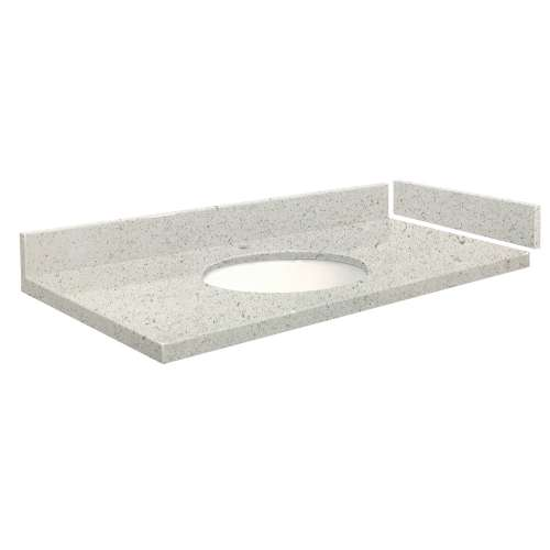 40 in. Quartz Vanity Top in Almond Delite with Single Hole