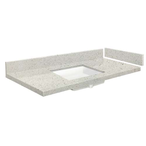 58.25 in. Quartz Vanity Top in Almond Delite with 4in Centerset