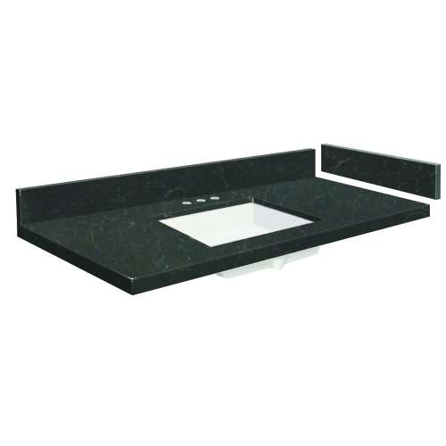 24.75 in. Quartz Vanity Top in Black Carrara with 8in Centerset