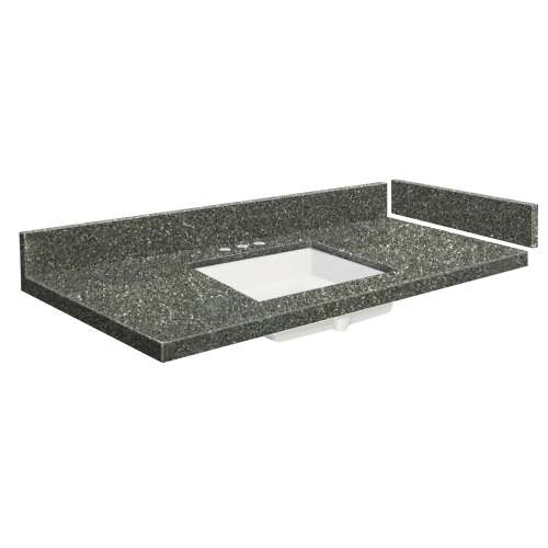61.5 in. Quartz Vanity Top in Greystone with 8in Centerset