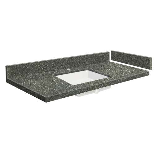 58.5 in. Quartz Vanity Top in Greystone with Single Hole