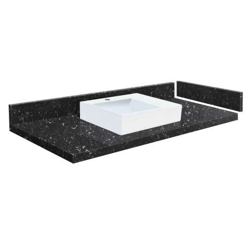 61.25 in. Quartz Vessel Vanity Top in Interlude with Single Hole