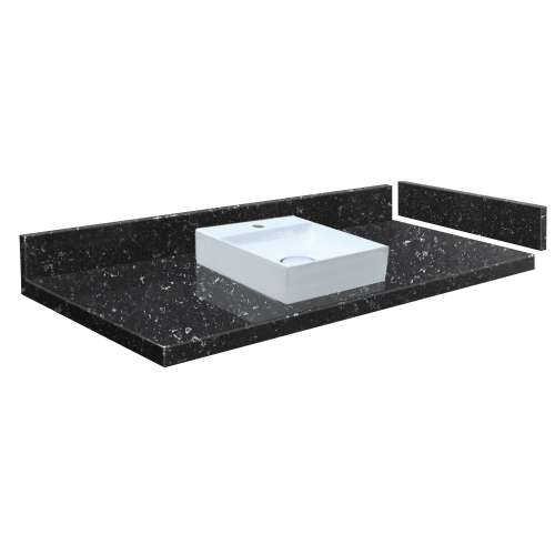 24.5 in. Quartz Vessel Vanity Top in Interlude with Single Hole