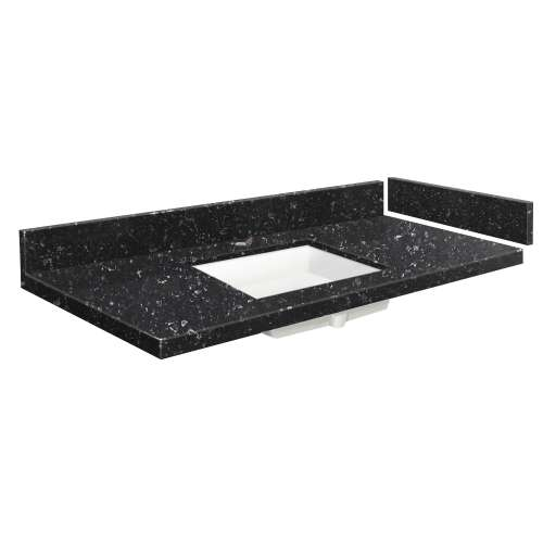 24.5 in. Quartz Vanity Top in Interlude with Single Hole