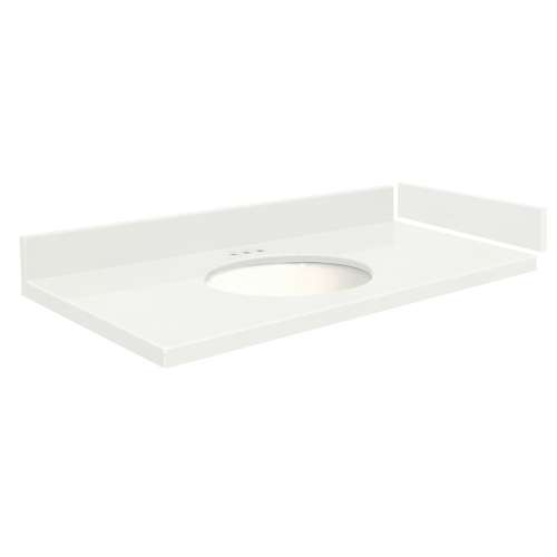 42.75 in. Quartz Vanity Top in Natural White with 4in Centerset