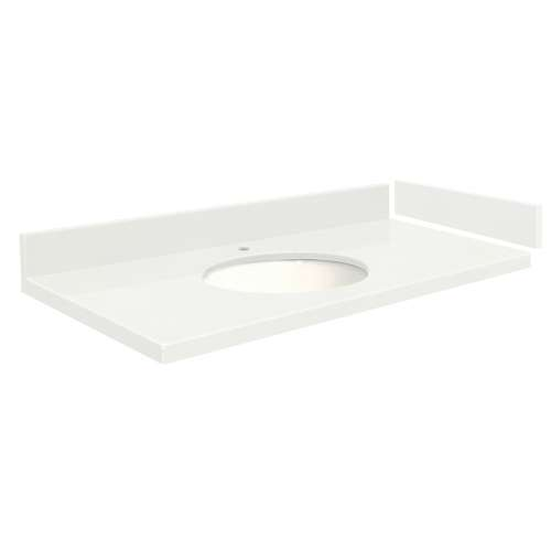 25.5 in. Quartz Vanity Top in Natural White