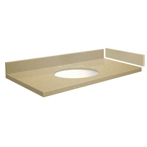 61 in. Quartz Vanity Top in Nature's Path with 8in Centerset