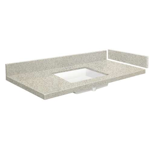 37 in. Quartz Vanity Top in Portage Pass with 4in Centerset