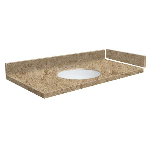 27.5 in. Solid Surface Vanity Top in Sand Mountain with 8in Centerset