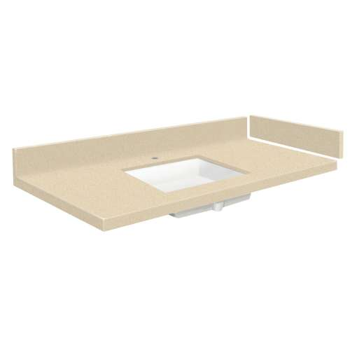 28.5 in. Solid Surface Vanity Top in Sea Shore with Single Hole