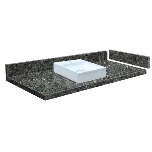 24.75 in. Quartz Vessel Vanity Top in Tempest with Single Hole