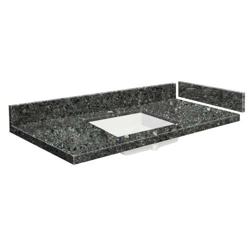 61 in. Quartz Vanity Top in Tempest with Single Hole