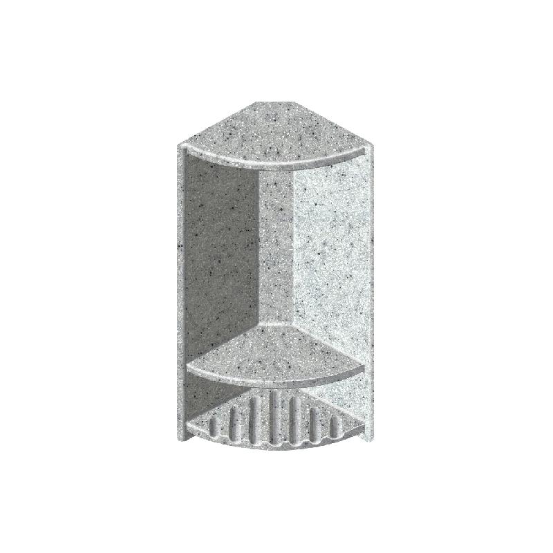 Transolid Decor 6-In X 14-1/2-In Double Corner Shelf