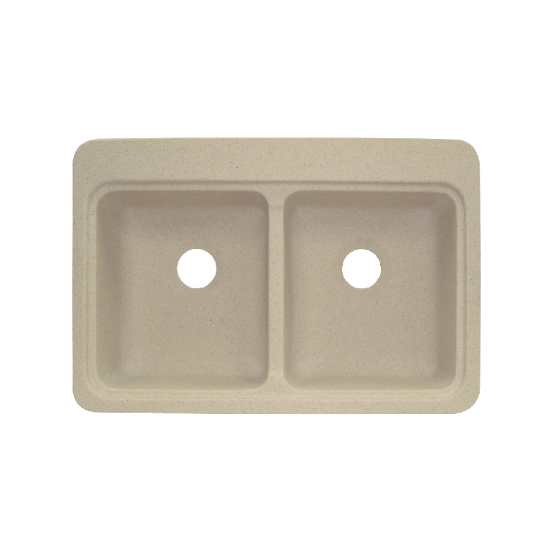 Transolid Charleston Solid Surface 33-in Drop-in Kitchen Sink