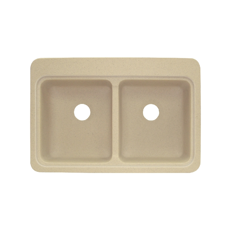 Transolid Charlotte Solid Surface 33-in Drop-in Kitchen Sink