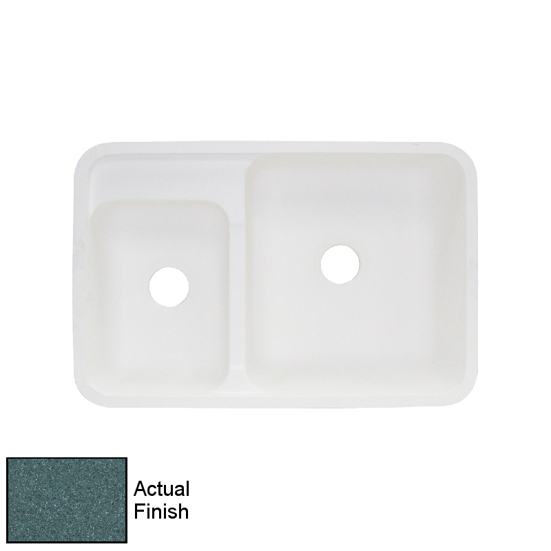 Transolid Augusta Solid Surface 32-in Drop-in Kitchen Sink