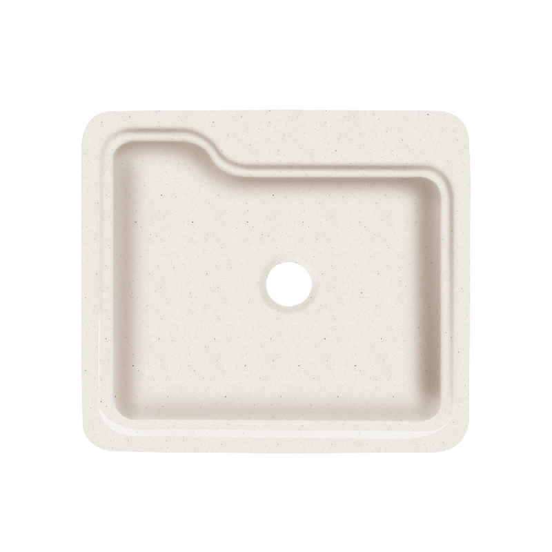 Transolid Portland Solid Surface 25-in Drop-in Kitchen Sink