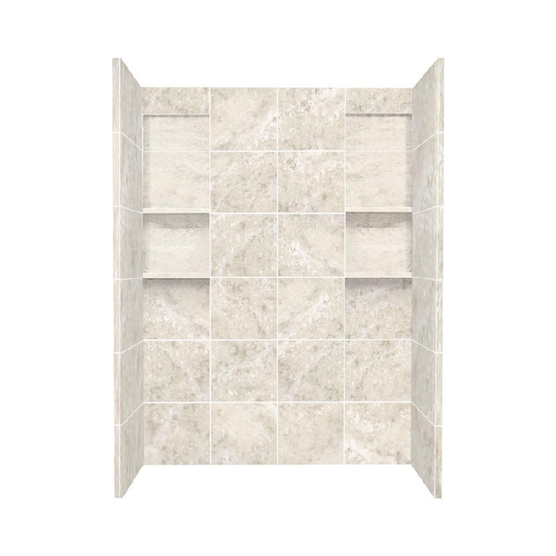 Buy Transolid Direct-to-Stud Solid Surface 60-in x 80-in Shower Wall ...