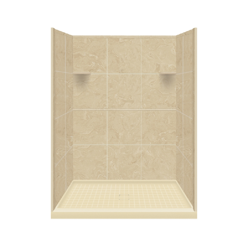 Buy Transolid Studio Solid Surface 48-in x 96-in Alcove Shower Kit ...