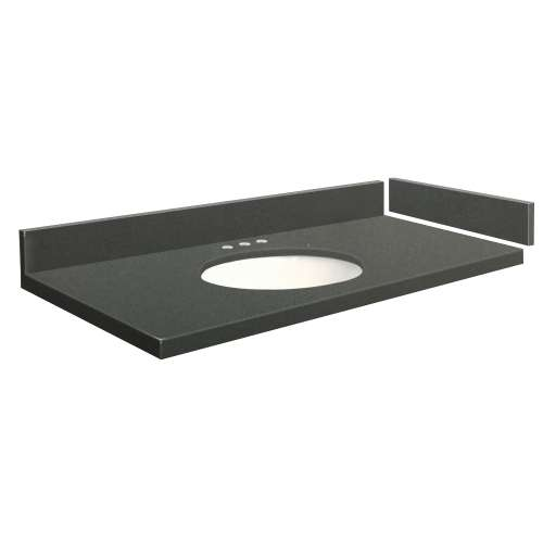 25 in. Quartz Vanity Top in Urban Grey with 8in Centerset