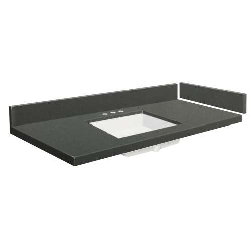 58.5 in. Quartz Vanity Top in Urban Grey with 8in Centerset