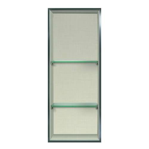 Transolid Expressions 34.5-in. Recessed Expressions Composite Material Shower Storage Pod STV23414-SS46