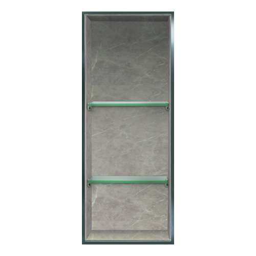 Transolid Expressions 34.5-in. Recessed Expressions Composite Material Shower Storage Pod STV23414-SS42