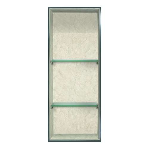 Transolid Expressions 34.5-in. Recessed Expressions Composite Material Shower Storage Pod STV23414-SS44