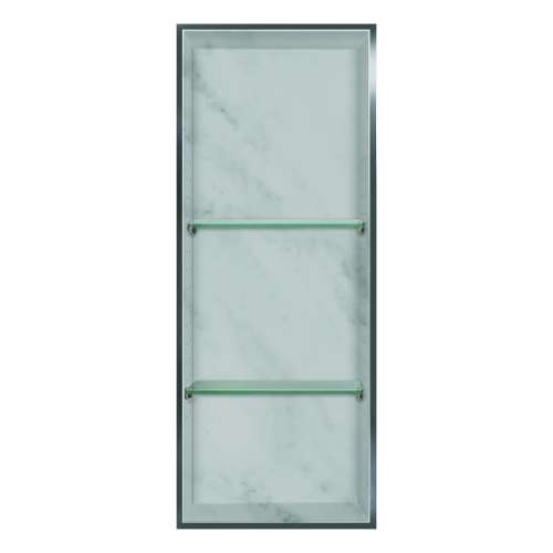 Transolid Studio 34.5-in. Recessed Solid Surface Shower Storage Pod STV23414-SS91
