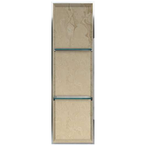 Transolid Studio 46.5-in. Recessed Solid Surface Shower Storage Pod STV24614-SS96