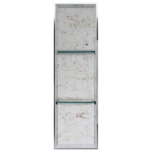 Transolid Saramar 46.5-in. Recessed SaraMar Material Shower Storage Pod STV24614-SS48