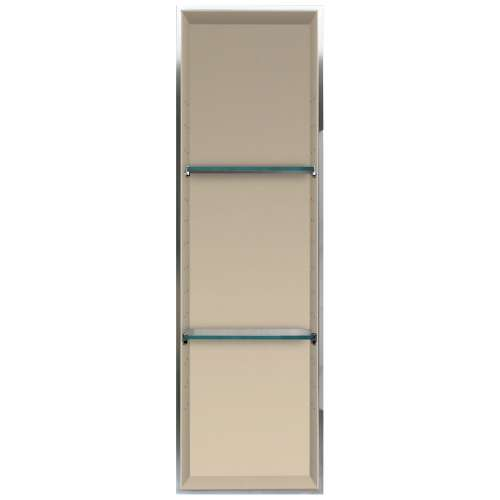 Transolid Studio 46.5-in. Recessed Solid Surface Shower Storage Pod STV24614-SS08