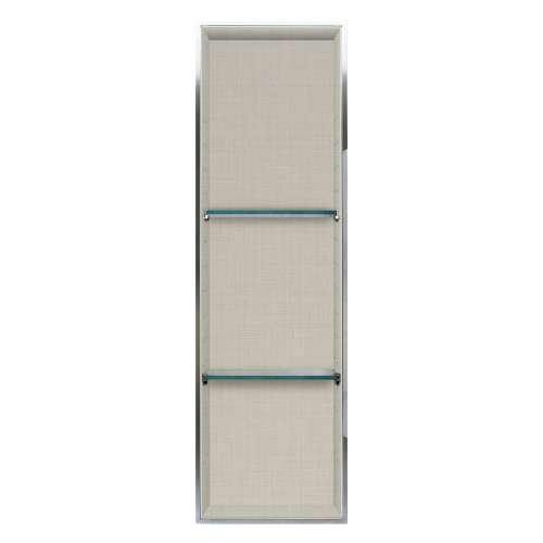 Transolid Expressions 46.5-in. Recessed Expressions Composite Material Shower Storage Pod STV24614-SS46
