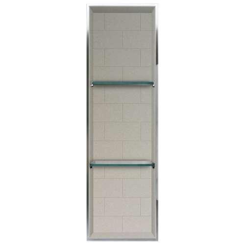 Transolid Saramar 46.5-in. Recessed SaraMar Material Shower Storage Pod STV24614-SS28