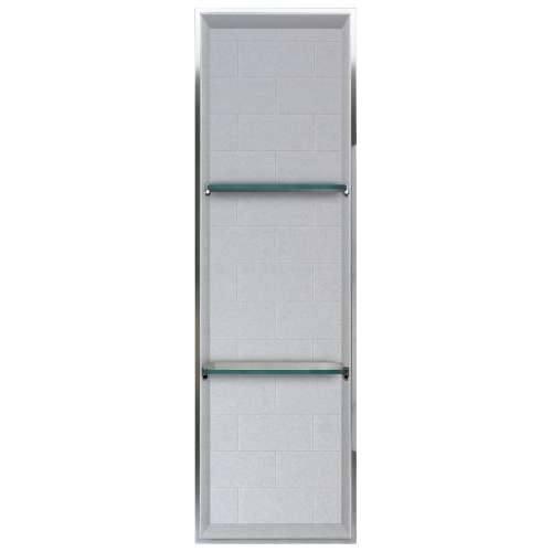 Transolid Saramar 46.5-in. Recessed SaraMar Material Shower Storage Pod STV24614-SS27