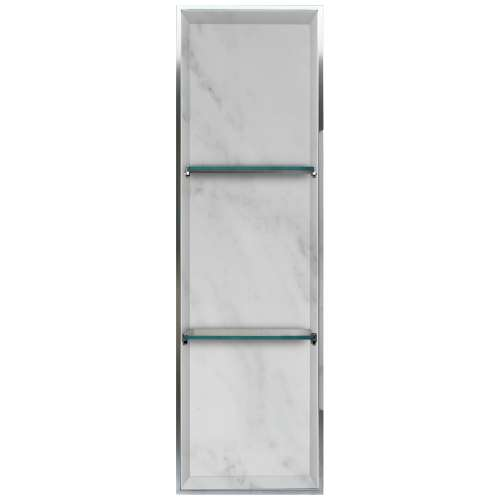 Transolid Studio 46.5-in. Recessed Solid Surface Shower Storage Pod STV24614-SS91