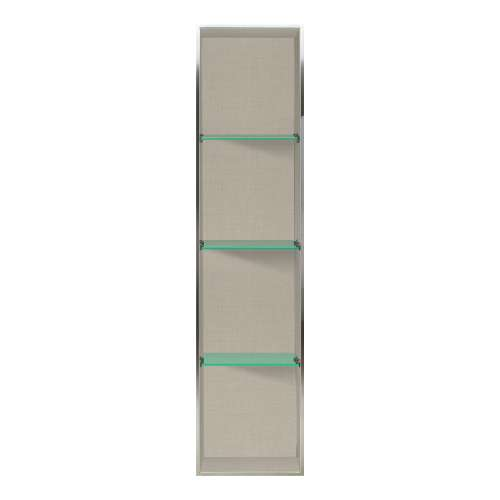 Transolid Expressions 58.5-in. Recessed Expressions Composite Material Shower Storage Pod STV25814-SS46