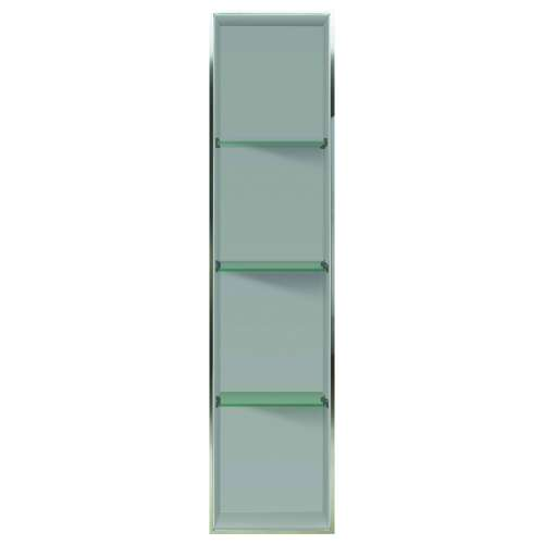 Transolid Studio 58.5-in. Recessed Solid Surface Shower Storage Pod - In Multiple Colors STV25814-SS-M2